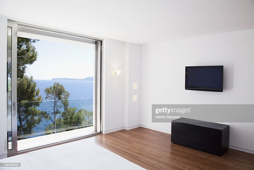 sliding doors in modern bedroom stock photo getty images