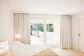 Sliding doors of modern bedroom
