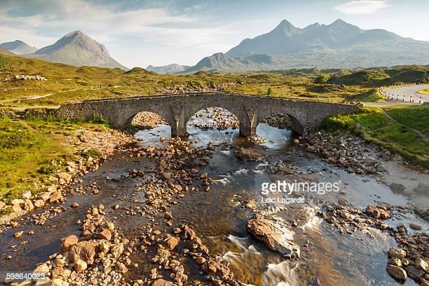 Sligachan Old Bridge in the Isle of Skye, Scotland