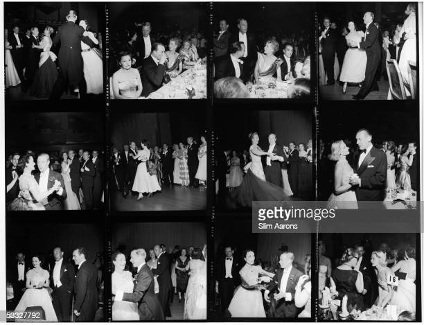 A Slim Aarons contact sheet depicting the Duke and Duchess of Windsor dancing at the Waldorf Astoria Park Avenue in New York 1953 Other guests...