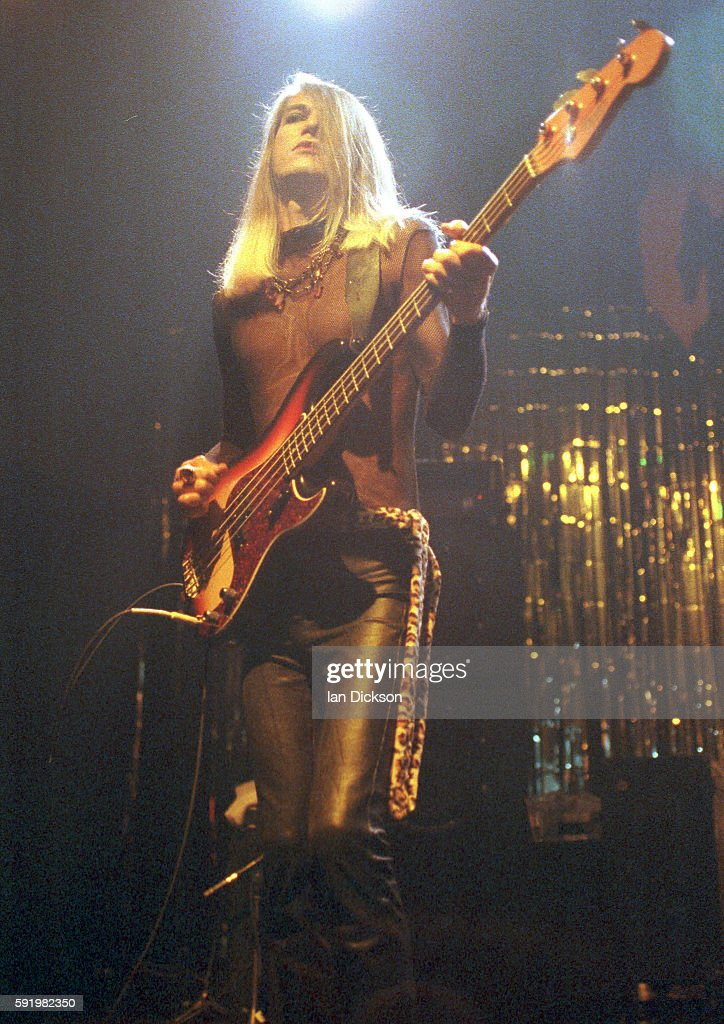 Slim Chance of The Cramps performing on stage at The Forum Kentish Town London 29 October 1991