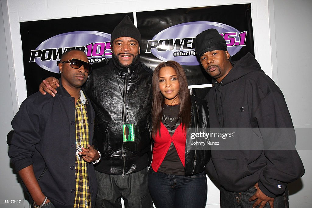 Slim, Ed Lover, Free and Memphis Bleek attend the 2008 Powerhouse concert at IZOD Center on October 28, 2008 in East Rutherford, New Jersey.