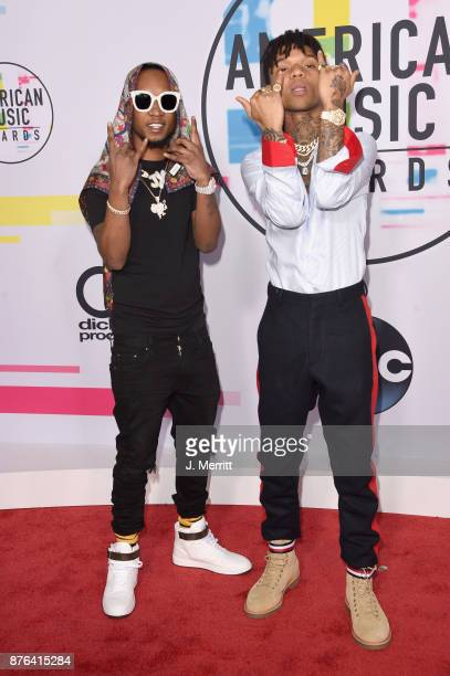 Slim Jimmy and Swae Lee of Rae Sremmurd attend 2017 American Music Awards at Microsoft Theater on November 19 2017 in Los Angeles California