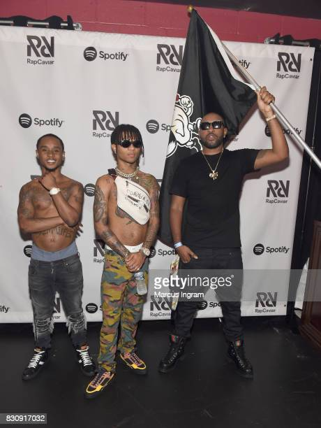 Slim Jxmmi and Swae Lee of Rae Sremmurd and Mike Will Made It at Spotify's RapCaviar Live at The Tabernacle on August 12 2017 in Atlanta Georgia