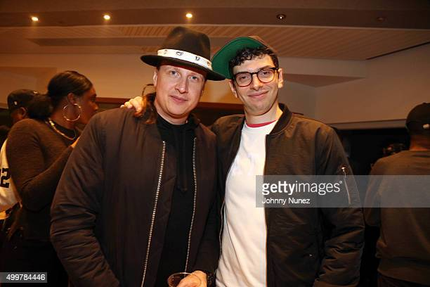 Slimmy Neutron and Jeff Rosenthal attend the Curren$y Listening Session at Gibson Guitar Studios on December 2 in New York City
