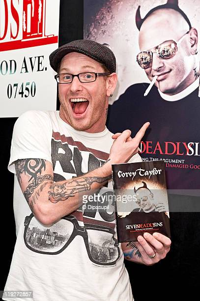 Slipknot and Stone Sour lead singer Corey Taylor promotes his book 'The Seven Deadly Sins' at Bookends on July 15 2011 in Ridgewood New Jersey