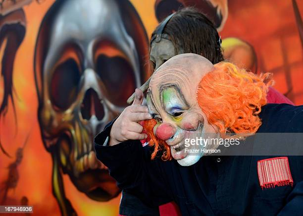 Slipknot arrive at the 5th Annual Revolver Golden Gods Award Show at Club Nokia on May 2 2013 in Los Angeles California
