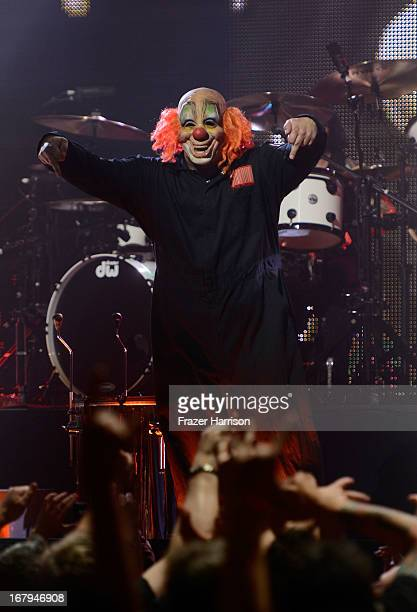 Slipknot perfomr at the 5th Annual Revolver Golden Gods Award Show at Club Nokia on May 2 2013 in Los Angeles California