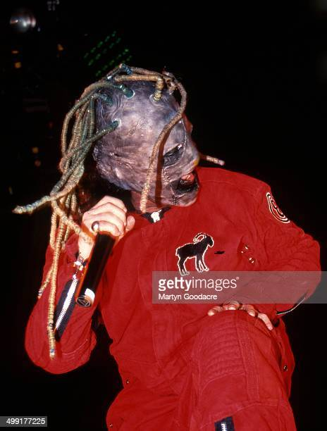 Slipknot perform on stage United Kingdom 2000