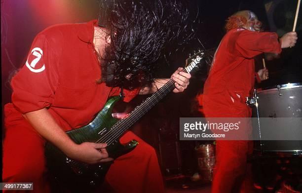 Slipknot perform on stage United Kingdom 2000