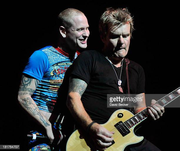 Slipknot singer Corey Taylor and guitarist Billy Duffy of The Cult performs with Camp Freddy at The Pearl concert theater at the Palms Casino Resort...