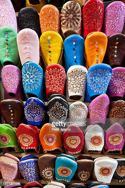 Slippers for Sale in the Souk, Marrakech, Morocco