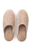 Slippers isolated over white background