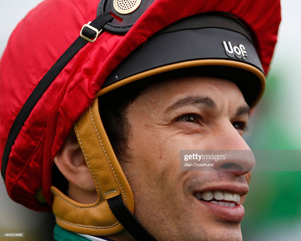 Slivestre De Sousa poses at Brighton racecourse on August 05, 2015 in Brighton, England.