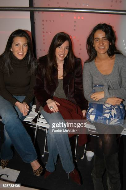 Sloane Barnett Stephanie Greenfield and Coco Brandolini attend the front row at Diane von Furstenberg Fashion Show at DVF Studios on February 8 2004...