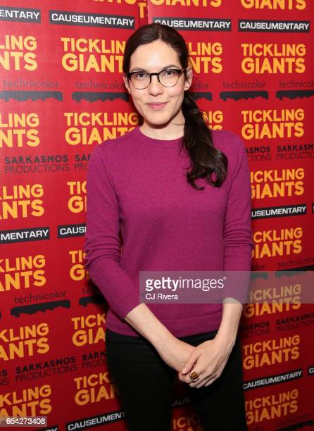 Sloane Crosley attends 'Tickling Giants' New York premiere at IFC Center on March 16 2017 in New York City
