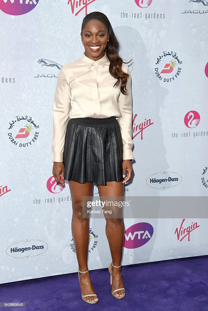 Sloane Stephens arrives for the WTA Pre-Wimbledon Party at Kensington Roof Gardens on June 23, 2016 in London, England.