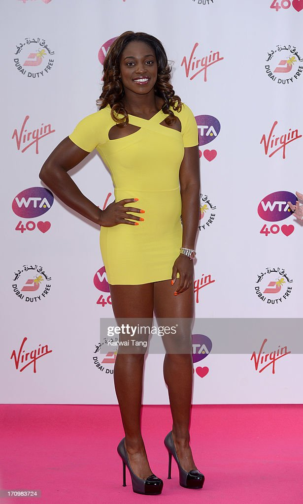 <a gi-track='captionPersonalityLinkClicked' href=/galleries/search?phrase=Sloane+Stephens&family=editorial&specificpeople=5510187 ng-click='$event.stopPropagation()'>Sloane Stephens</a> attends the annual pre-Wimbledon party at Kensington Roof Gardens on June 20, 2013 in London, England.