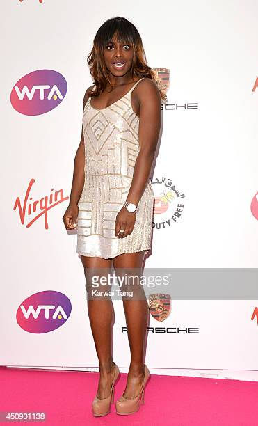 Sloane Stephens attends the WTA PreWimbledon party at Kensington Roof Gardens on June 19 2014 in London England