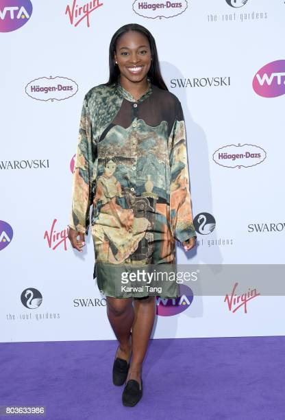 Sloane Stephens attends the WTA PreWimbledon party at Kensington Roof Gardens on June 29 2017 in London England