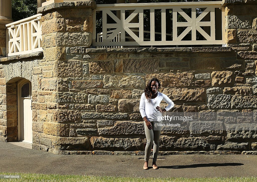 <a gi-track='captionPersonalityLinkClicked' href=/galleries/search?phrase=Sloane+Stephens&family=editorial&specificpeople=5510187 ng-click='$event.stopPropagation()'>Sloane Stephens</a> of the USA poses on a visit to St. David's Park during day six of the Hobart International at Domain Tennis Centre on January 9, 2013 in Hobart, Australia.