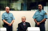 Slobodan Milosevic refuses the presence of any lawyer during his initial hearing of Thursday before the ICTY in The Hague Netherlands on July 03 2001