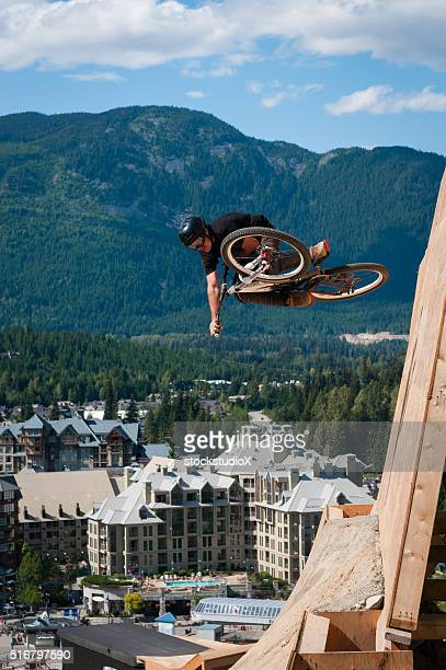 Slopestyle mountain biking in Whistler Canada
