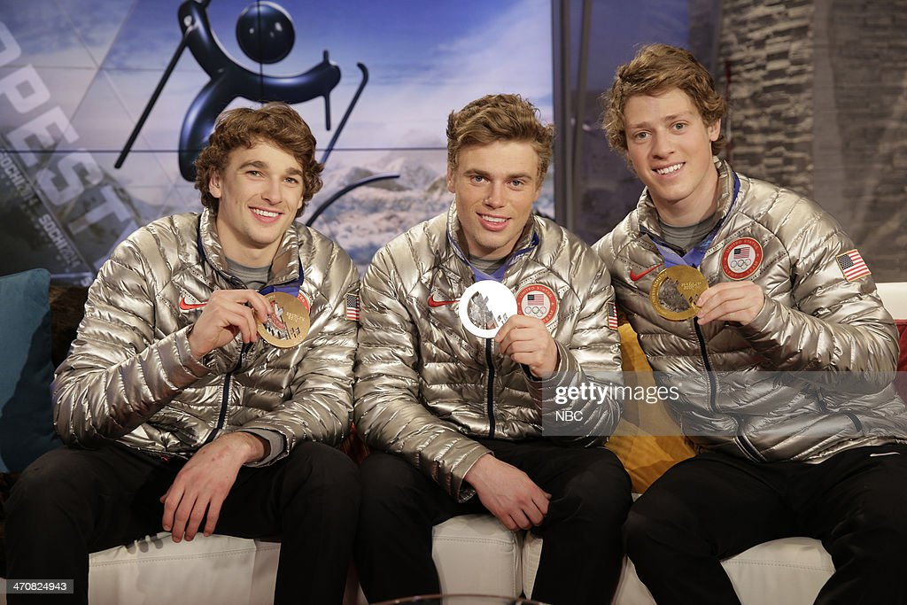 GAMES -- Slopestyle winners <a gi-track='captionPersonalityLinkClicked' href=/galleries/search?phrase=Nick+Goepper&family=editorial&specificpeople=9021155 ng-click='$event.stopPropagation()'>Nick Goepper</a>, <a gi-track='captionPersonalityLinkClicked' href=/galleries/search?phrase=Gus+Kenworthy&family=editorial&specificpeople=6164869 ng-click='$event.stopPropagation()'>Gus Kenworthy</a>, <a gi-track='captionPersonalityLinkClicked' href=/galleries/search?phrase=Joss+Christensen&family=editorial&specificpeople=7454278 ng-click='$event.stopPropagation()'>Joss Christensen</a> during an interview on February 15, 2014 during the XXII Olympic Winter Games in Sochi, Russia --