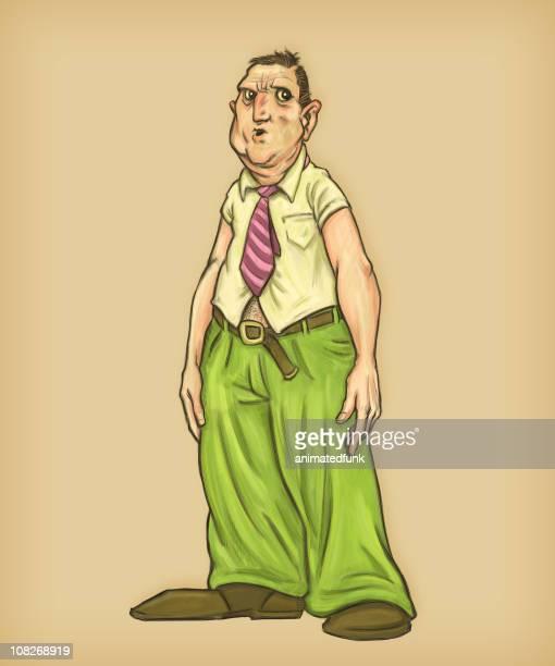 スロッピーシャツには裾を出しているビジネスマン