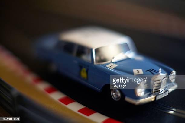 Slot Cars on track.