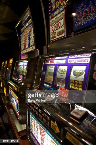 Slot machines aboard Wind Spirit of Windstar Cruises : Stock Photo