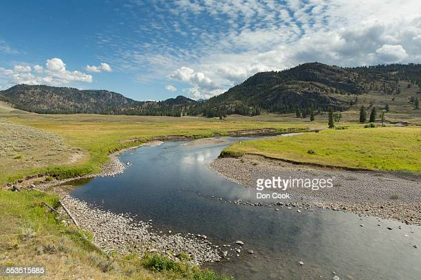Slough Creek In Yellowstone National Park,  USA