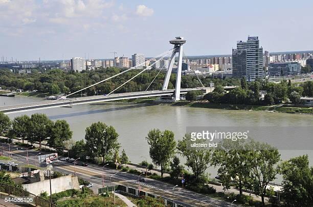 Slovakia Bratislava Bratislava Novy Most over river Danube