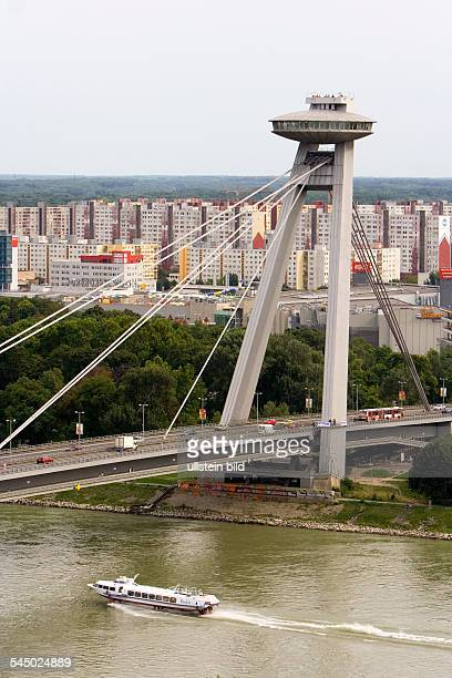 Slovakia Bratislava Pressburg New Bridge across the Danube