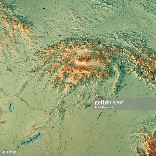 Slovakia Country 3D Render Topographic Map