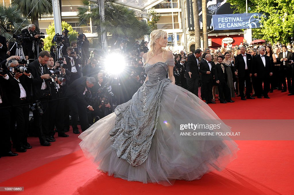 Slovakian model Adriana Karembeu arrives for the screening of 'Biutiful' presented in competition at the 63rd Cannes Film Festival on May 17, 2010 in Cannes.