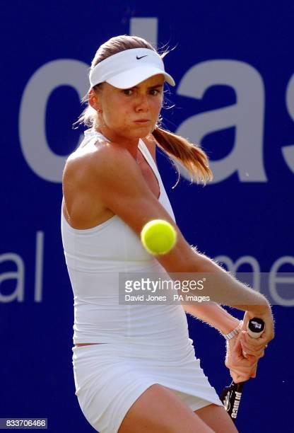 Slovakia's Daniela Hantuchova in action during The DFS Classic at Edgbaston Priory Club Birmingham