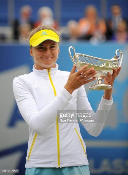 Slovakia's Daniela Hantuchova winner of the 2013 Aegon Classic