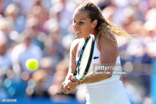 Slovakia's Dominika Cibulkova in action during her match against Great Britain's Heather Watson during day four of the AEGON International at...