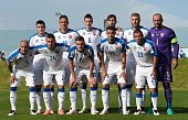Slovakia's players pose for a photo prior to the friendly match between Slovakia and Georgia in Wels Austria on May 27 2016 / AFP / JOE KLAMAR