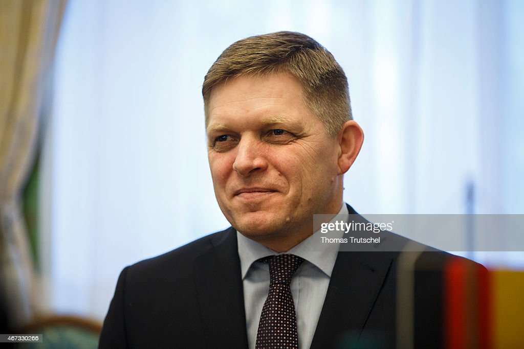 Slovakia's Prime minister <a gi-track='captionPersonalityLinkClicked' href=/galleries/search?phrase=Robert+Fico&family=editorial&specificpeople=555594 ng-click='$event.stopPropagation()'>Robert Fico</a> is pictured on March 23, 2015 in Bratislava, Slovakia.
