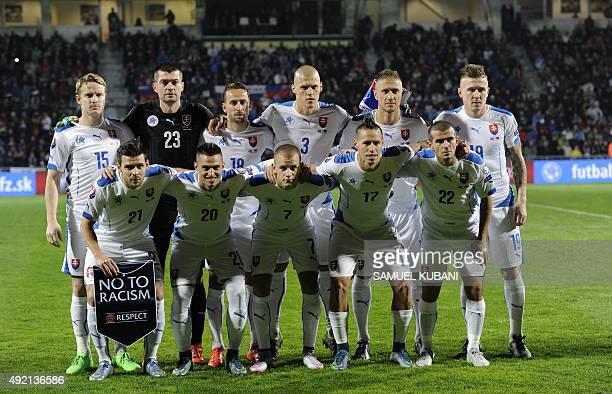 Slovakia's team Michal Duris Robert MakVladimir Weiss Marek Hamsik Viktor Pecovsky Tomas Hubocan Matus Kozacik Dusan Svento Martin Skrtel Kornel...