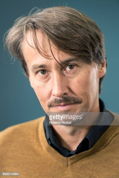 Slovene poet writer editor and literary critic Ales Steger attends a photocall during the annual Edinburgh International Book Festival at Charlotte...