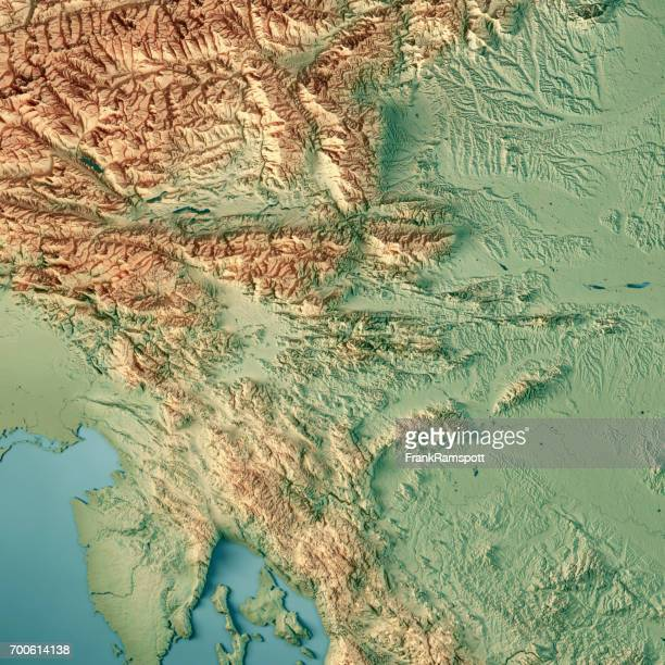 Slowenien Land 3D-Render topographische Karte