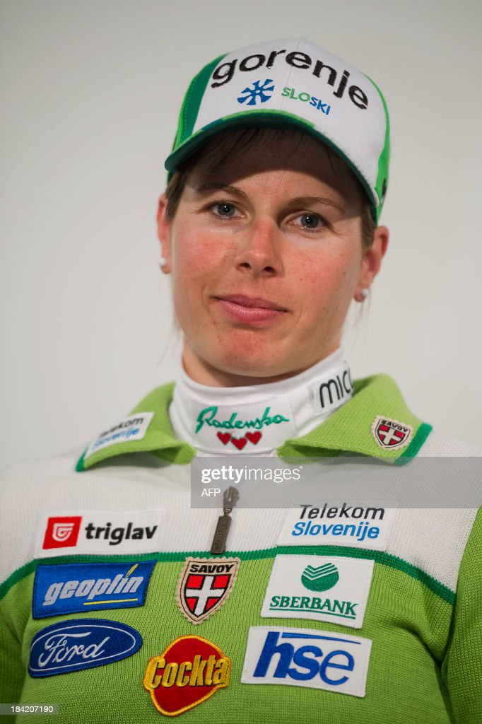 Slovenian crosscountry skier Vesna Fabjan poses on October 10, 2013 during a presentation of Slovenia's Ski Association in Zgornji Brnik, Slovenia.