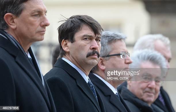 Slovenian President Borut Pahor Hungary's President Janos Ader Poland's President Bronislaw Komorowski Austrian President Heinz Fischer and Czech...