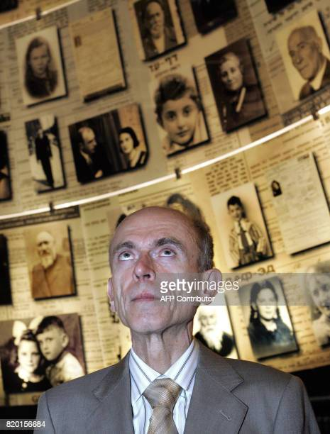 Slovenian President Dr Janez Drnovesk looks up as he pays a visit to the Holocaust Museum's Hall of Names in Yad Vashem in Jerusalem 06 March 2006...