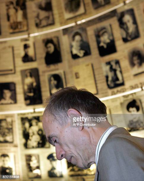 Slovenian President Dr Janez Drnovesk pays a visit to the Holocaust Museum's Hall of Names in Yad Vashem in Jerusalem 06 March 2006 Drnovsek is on an...