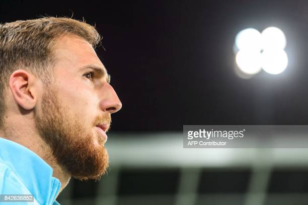 Slovenia's goalkeeper Jan Oblak looks on prior to the FIFA World Cup 2018 qualification football match between Slovenia and Lithuania at Stadium...