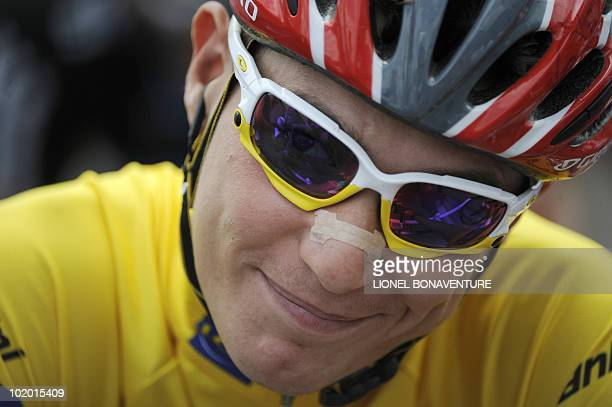 Slovenia's Janez Brajkovic is seen on June 12 during the 1515 km stage run between Crolles and L'Alpe d'Huez during the 62nd edition of the Criterium...